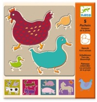 Djeco: Design - Farm Animals Stencils