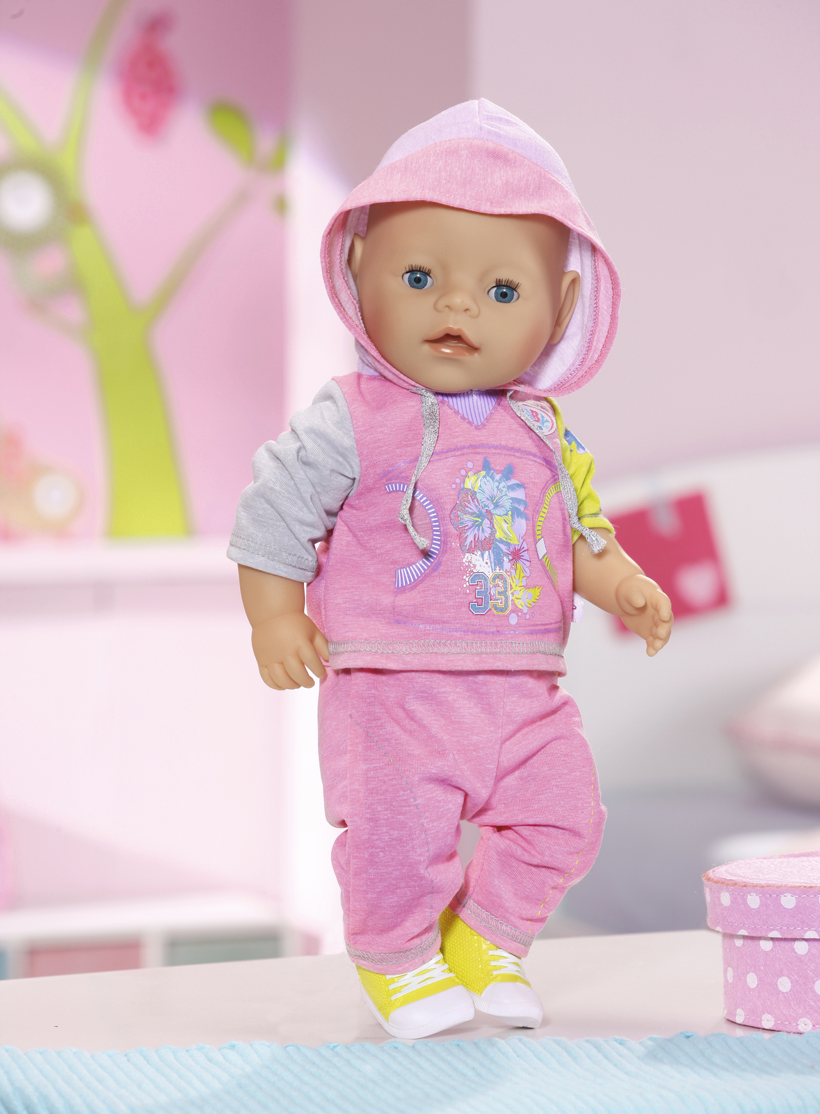 Baby Gift Nz : Baby born deluxe jogging set pink toy at mighty ape nz
