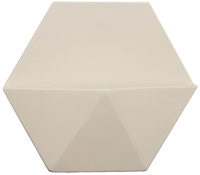 Decor Living: Large Hex Wall Planter - White image