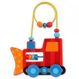 Stephen Joseph Rolling Wire & Bead Toy - Construction
