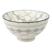 Etta Black and White Iberia Large Bowl (13.5cm)