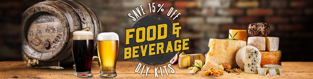 Save 15% off DIY Food & Beverage Kits!