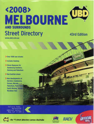 UBD Melbourne and Surrounds Street Directory image