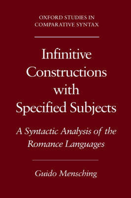 Infinitive Constructions with Specified Subjects by Guido Mensching image