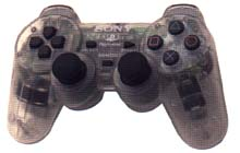 Dual Shock Controller Transparent Clear