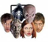 Doctor Who Face Mask SET 6 (Friends & Foes)