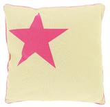 Black Robin Pink Star Cushion