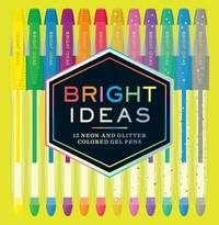Bright Ideas Neon and Sparkle Gel Pens by Chronicle Books