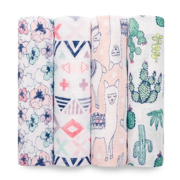 Aden + Anais: Classic Swaddle - Trail Blooms (4 Pack)