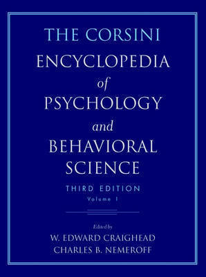 The Corsini Encyclopedia of Psychology and Behavioral Science: v.3 by Raymond J. Corsini