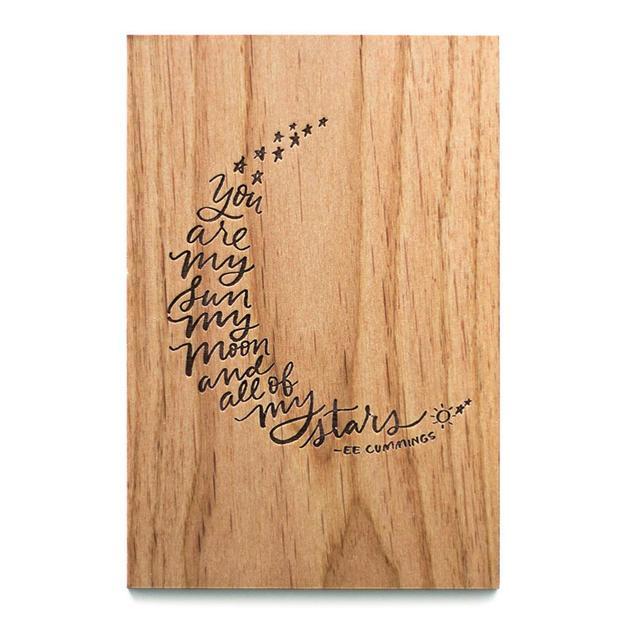 Cardtorial Wooden Card - My Sun, Moon, & Stars