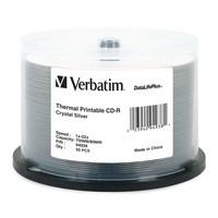 Verbatim CD-R 700MB Crystal Thermal 52x (50 Pack) image