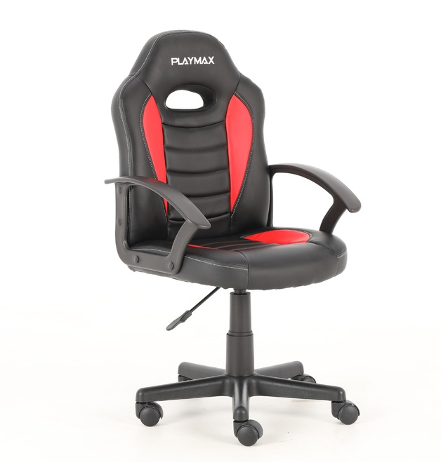 Playmax Kids Gaming Chair - Red and Black for
