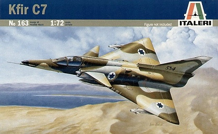 Italeri KFIR-C7 Fighter 1:72 Model Kit