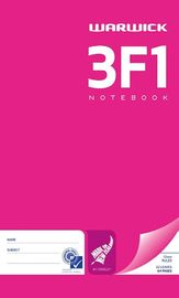 Warwick 3F1 32lf 12mm Ruled Notebook Pack of 2