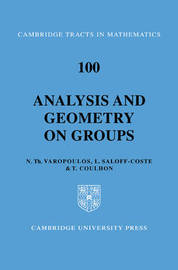 Analysis and Geometry on Groups by Nicholas Theodoros Varopoulos