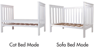 Bebe Care Oxford Cot / Bed (White) image