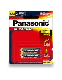 Panasonic Alkaline AAA Batteries - 2 Pack
