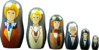 Doctor Who - 1st to 6th Doctor Nesting Doll Set