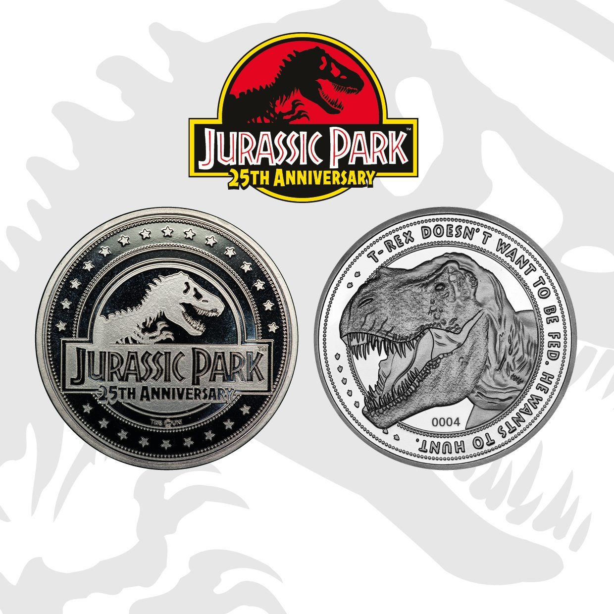 Jurassic Park: Collectible Coin - 25th Anniversary (Silver Edition) image