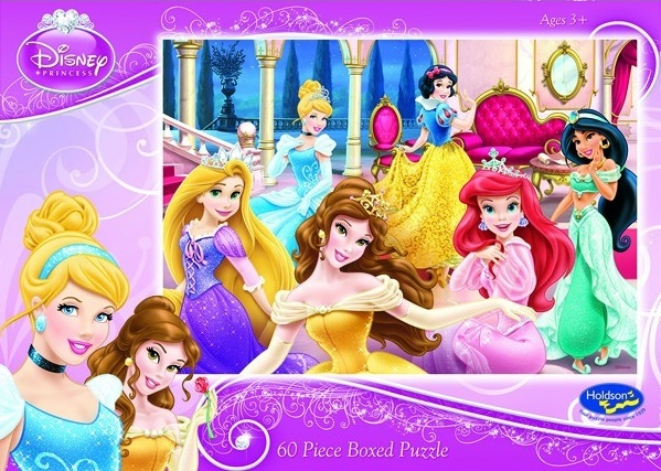 Holdson 60pce Puzzles - Disney Princess - Dressed to Delight