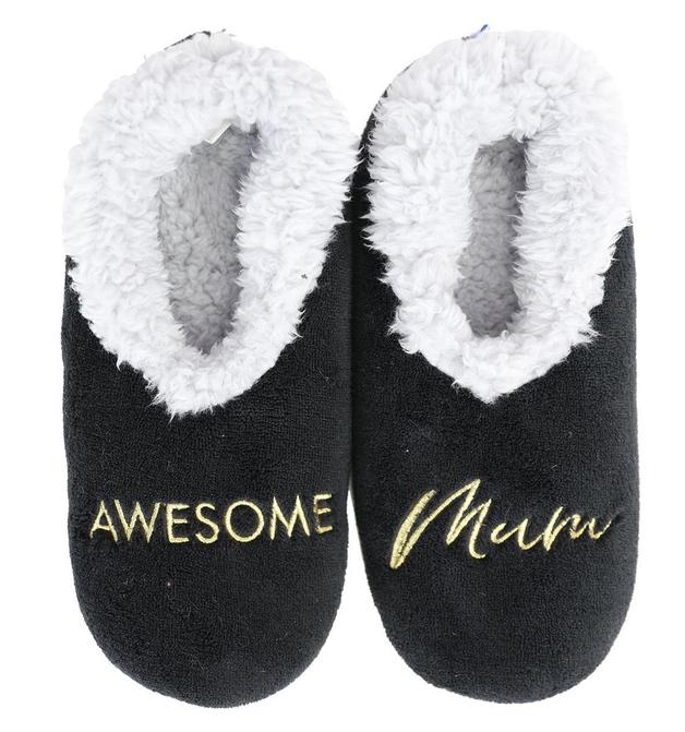 Slumbies: Awesome Mum - Womens Slippers (Medium)