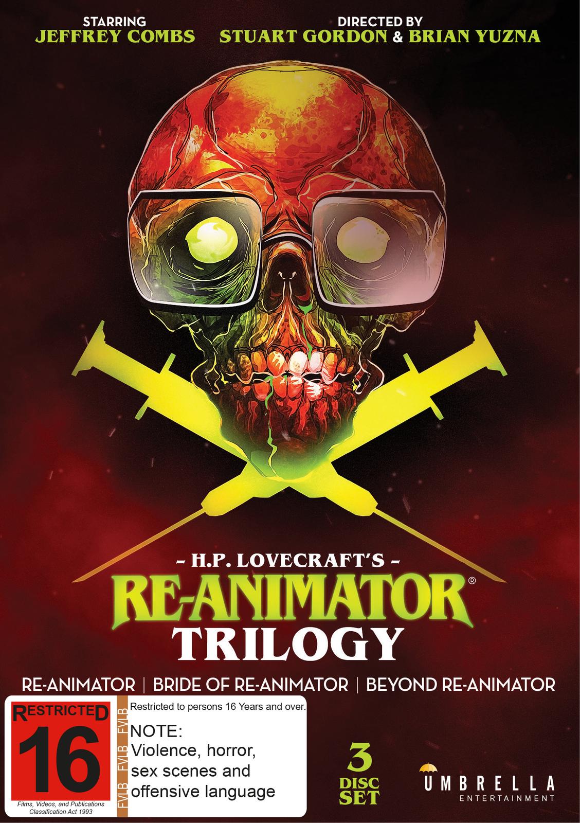 Re-Animator / Bride of Re-Animator / Beyond Re-Animator on DVD image
