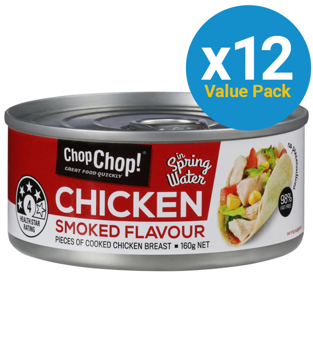 Chop Chop: Chicken Chunks - Smoked Flavour (160g x 12)