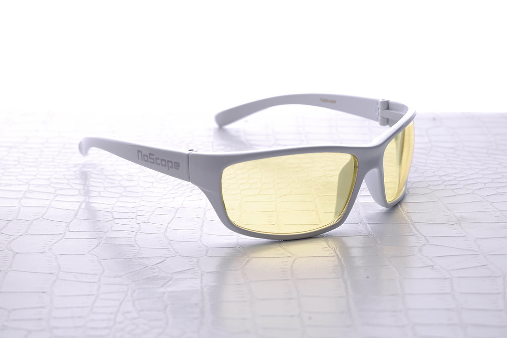 NoScope Minotaur Computer Gaming Glasses - Frost White for PC Games image