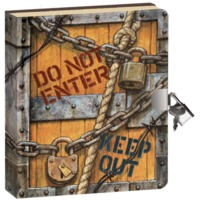 Peaceable Kingdom: Lockable Diary - Keep Out