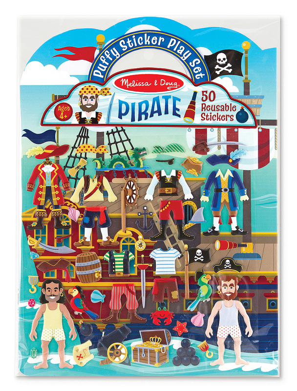 Melissa & Doug: Puffy Stickers Play Set Pirate