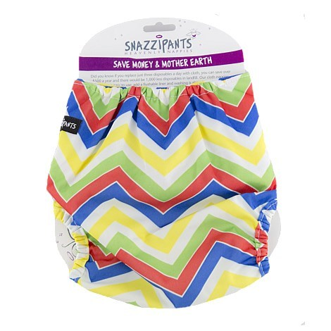 Snazzipants Reusable Nappy Pull Cover - Multi Chevron