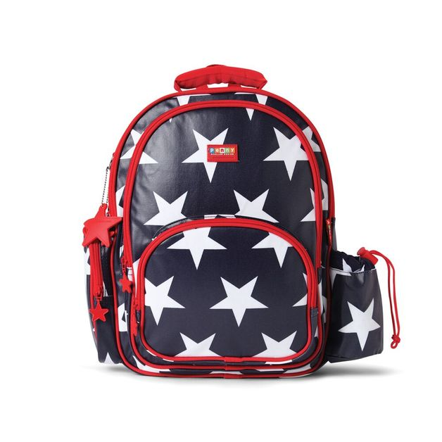 Navy Star Large Backpack