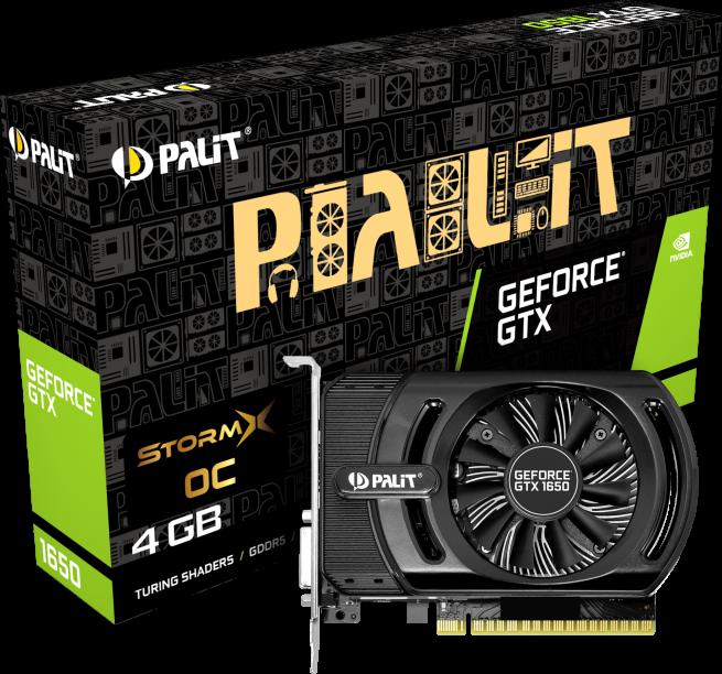 NVIDIA GeForce GTX 1650 StormX OC 4GB Palit GPU image
