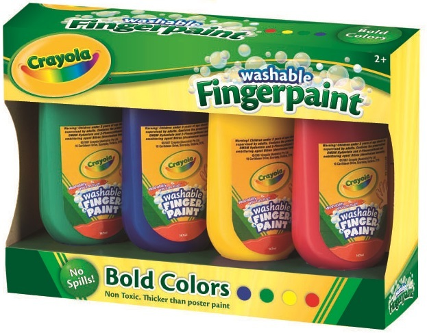Crayola: Washable Fingerpaints - 4 Pack