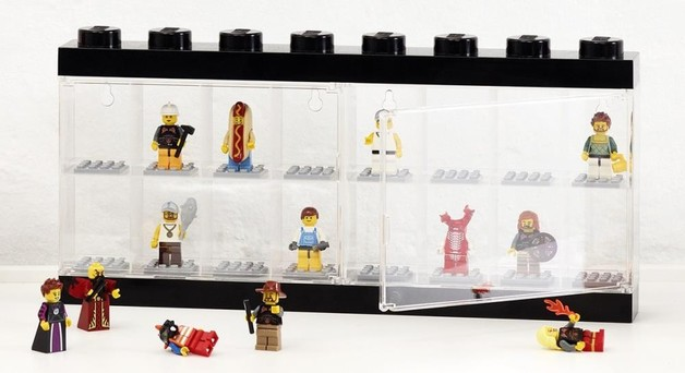 LEGO Minifigure Display Case 16 (Black)