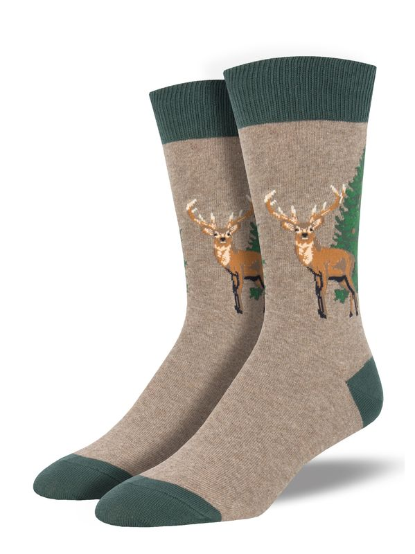 Socksmith: Mens Going Stag - Brown Heather