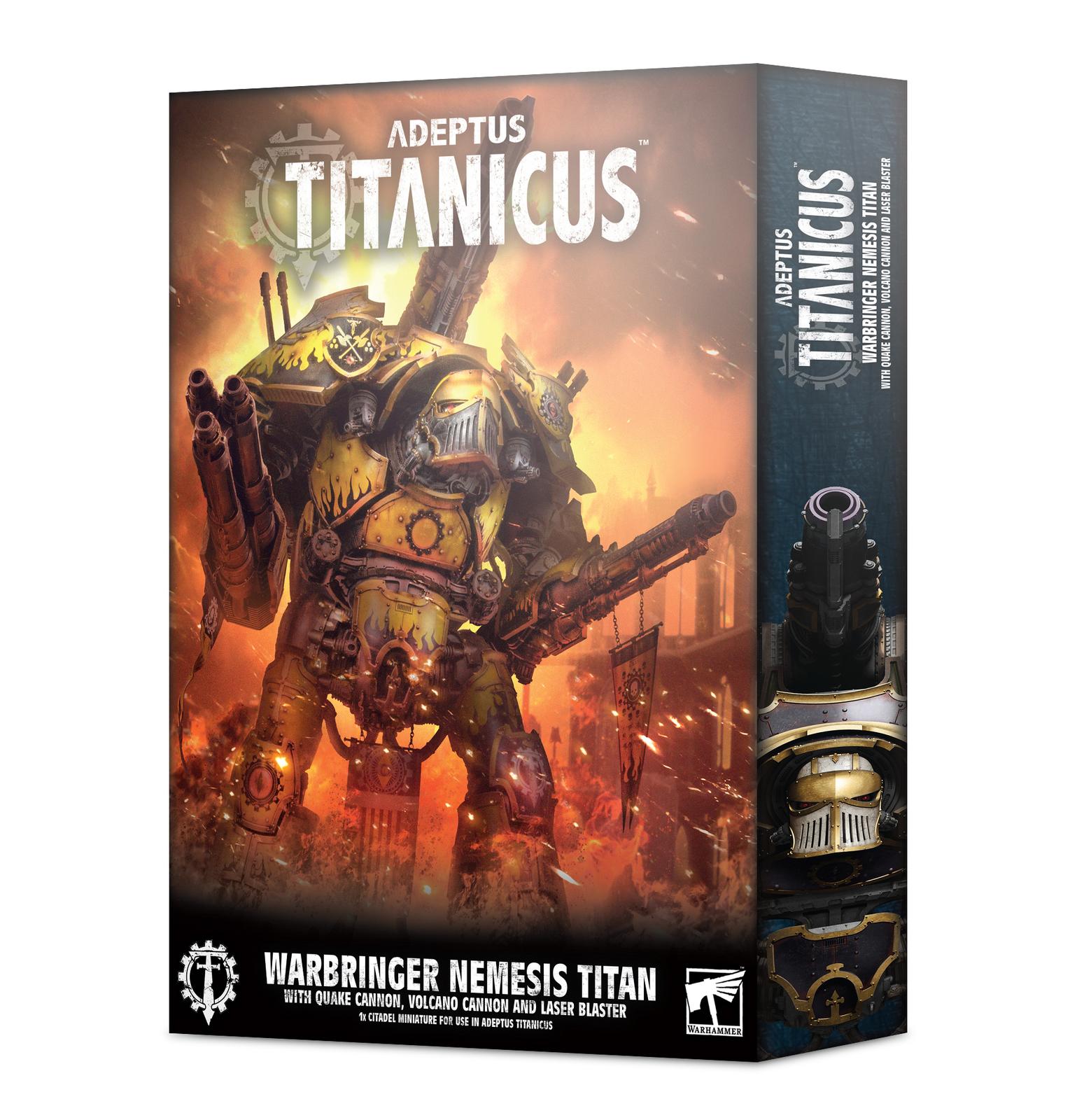 Adeptus Titanicus Warbringer Nemesis Titan with Quake Cannon image