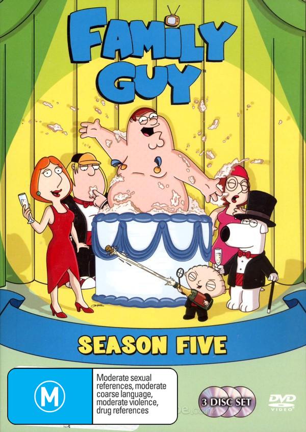 Family Guy - Season 5 (3 Disc Set) on DVD image