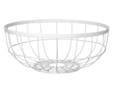 Open Grid Fruit Bowl - White