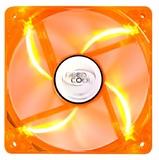 Deepcool: Orange Transparent Frame - LED Case Fan - 120mm
