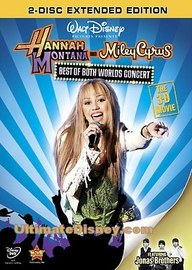 Hannah Montana and Miley Cyrus - Best Of Both Worlds Concert: The 3-D Movie (2 Disc Set) on