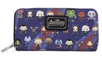 Loungefly x Marvel Avengers Infinity War: Kawaii Print - Zip-Around Wallet