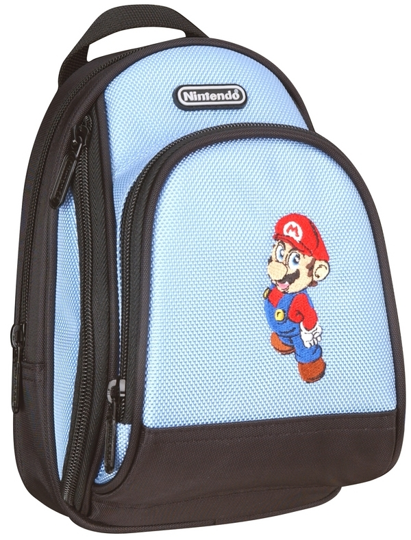 Mario Back Pack Case - Blue for Nintendo DS