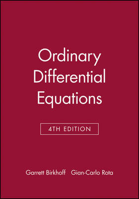 Ordinary Differential Equations by Garrett Birkhoff