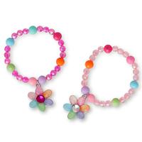 Pink Poppy: Pastel Gem Flower Bracelet - (Assorted Designs)