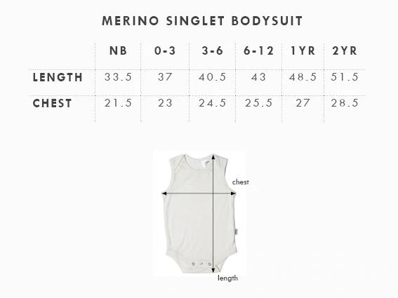 Babu: Merino Singlet Bodysuit - Khaki (2 Years) image