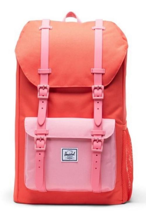 Herschel Supply Co: Herschel Little America Youth - Hot Coral/Flamingo Pink