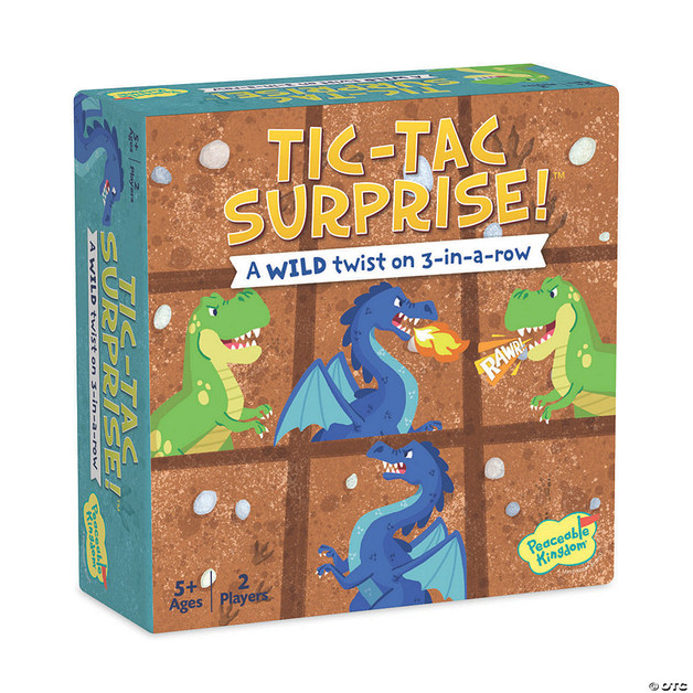 Peaceable Kingdom: Tic-Tac Surprise (Dinos & Dragons) - Cooperative Game
