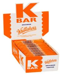 Whittaker's K Bars Bulk Counter Display - Orange (24g)